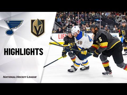 NHL Highlights   Blues @ Golden Knights 2/13/20