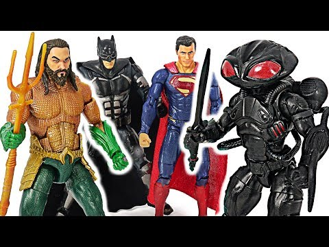 DC Justice League Aquaman, Superman, Batman VS Black Manta, Sea monster! #DuDuPopTOY