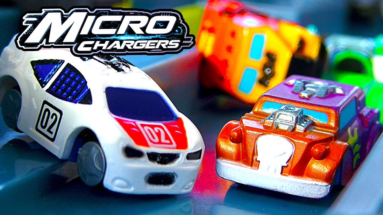 micro chargers pro racing pit stop track amazing racing cars playset youtube