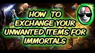 EXCHANGE YOUR UNWANTED DOTA 2 ITEMS FOR IMMORTALS (DOTA.MONEY)