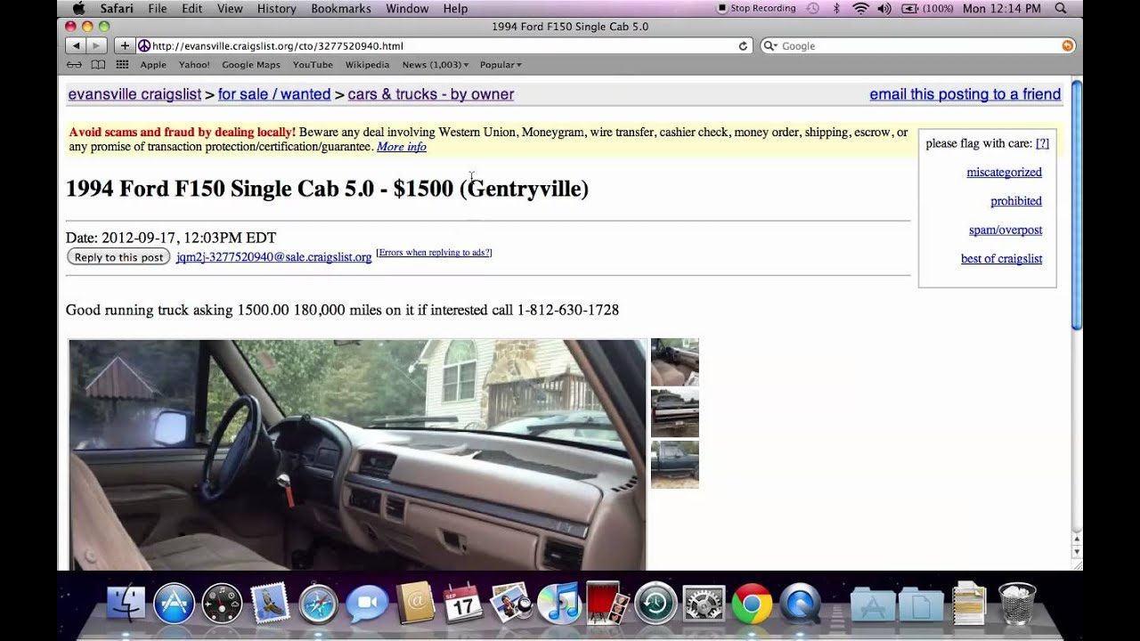 Craigslist evansville indiana used cars and trucks for sale by owner deals in 2012 youtube