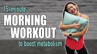 15-Minute Morning Workout in Pajamas | No Jumping, No Weights | Joanna Soh