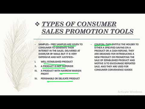 types of sales promotion tools