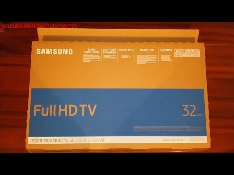 Smart TV Samsung 32'' 5 Series M5500 Class Full HD 1080p: Unboxing. FHD 1080p