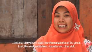 Women mobile phone users review the winning submissions to GSMA mWomen Design Challenge