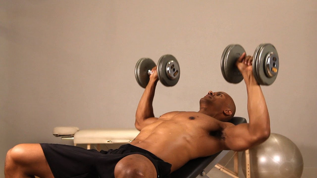 how to do incline dumbbell bench press chest workout youtube