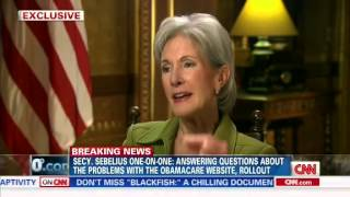 Part 2 of 2 - Dr. Sanjay Gupta Grills Sebelius Over Obamacare, Site Glitches, Resigning