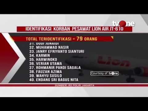 Daftar 79 Nama Korban Lion Air JT-610