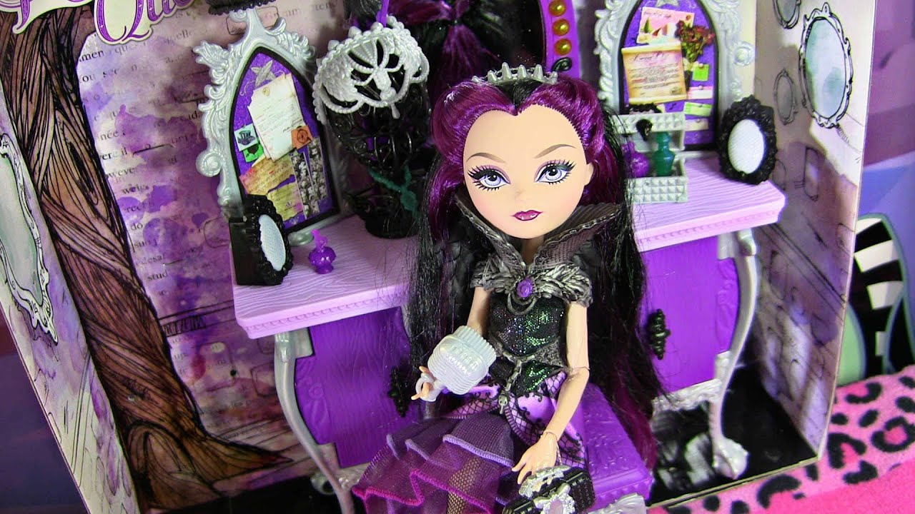 Popular EVER AFTER HIGH RAVEN QUEEN uS DESTINY VANITY PLAYSET REVIEW VIDEO D YouTube