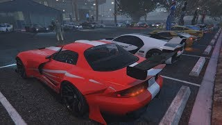 Livestream - GTA 5 - RACECAR MEET and Racing Playlist PS4