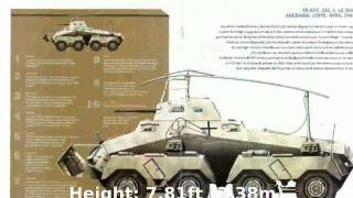 SdKfz 234 (Puma) 8-Wheeled Armed Reconnaissance Vehicle (1943) -  Tech Details Technical Specs