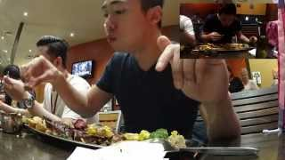 Skinny Indonesian Man vs Wild 1kg Steak (30 minutes challenge) with Sony Action Cam Time Lapse