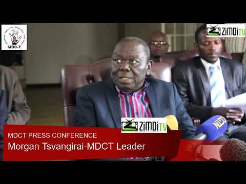 ZIM ARMY SUPPORTED A LOST ELECTION SAYS MORGAIN TSVANGIRAI