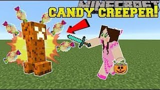 Pat and Jen PopularMMOs Minecraft  HALLOWEEN! CANDY EXPLODING CREEPERS & TRICK OR TREATERS! Mod Show