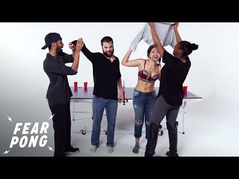 Couple Vs. Couple (Dominick & Spe'shell Vs. Rebeka & Andrew) | Fear Pong | Cut