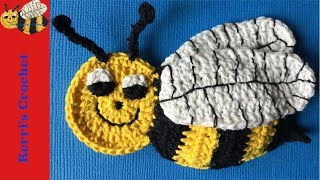 Crochet Applique Tutorials - Crochet Bee Tutorial