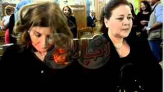 دلال عبد العزيز وميرفت أمين في عزاء مريم فخر الدين