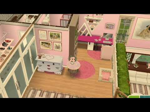 Pink House Tour | The Sims Freeplay