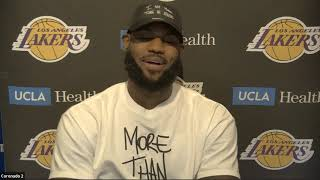 LeBron James Full Interview - Game 1 Preview | Trail Blazers vs Lakers | 2020 NBA Playoffs