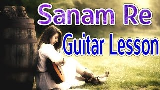 Sanam Re Guitar Lead Lesson | Arijit Singh | VguitarLearning | Easy Tutorial
