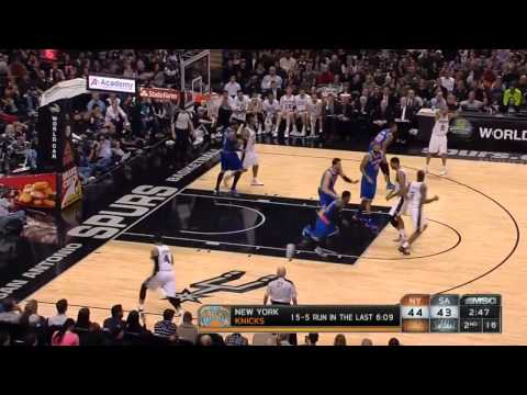 Andre Bargnani running in circles on Defense  vs Spurs  1-2-14