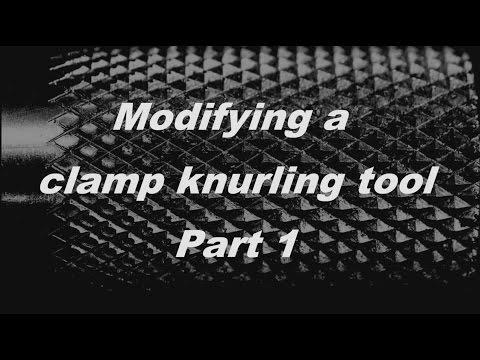Modifying a cheap clamp knurler Part 1- Umbau einer Rändelzange Teil 1