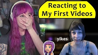 Reacting to My First Videos - 100k Subscriber Special (cringe warning)