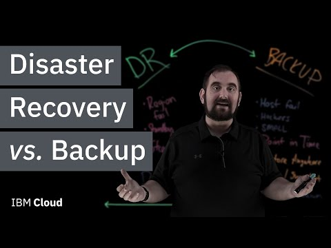 Disaster Recovery vs. Backup: What's the difference?