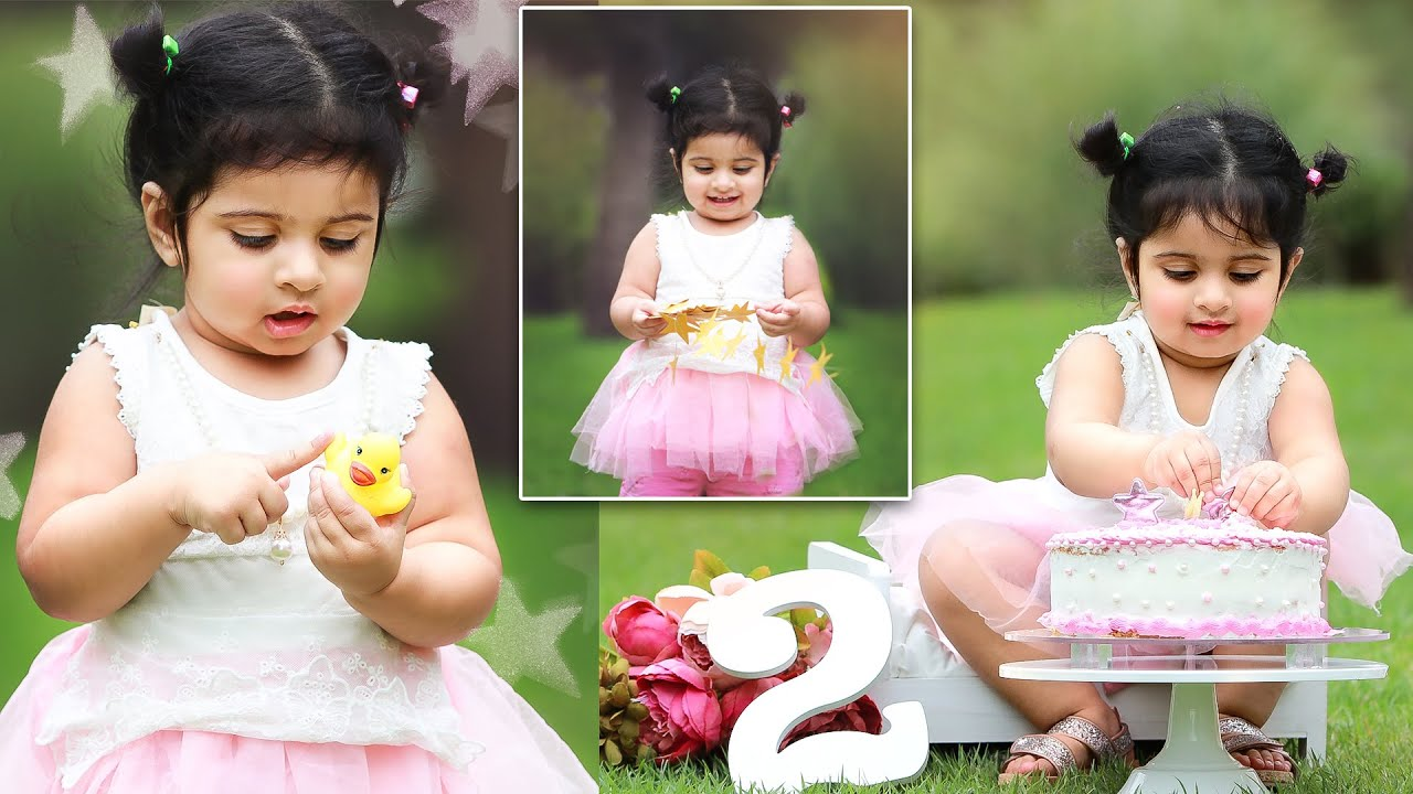 Two Year Old Birthday Photography, 2nd Birthday Photoshoot Ideas for Baby  Girl | Toddler Photography - YouTube