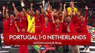 Download Video Portugal win Nations League | Portugal 1-0 Netherlands | Highlights | UEFA Nations League MP3 3GP MP4