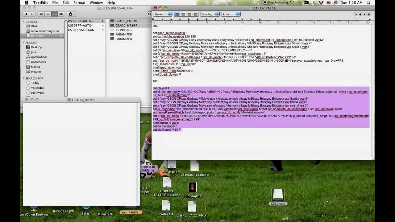 mw2 mod menu ps3 codes