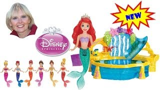 ♥♥  The Little Mermaid Disney Princess 7 Sisters Dolls Color Change Tops