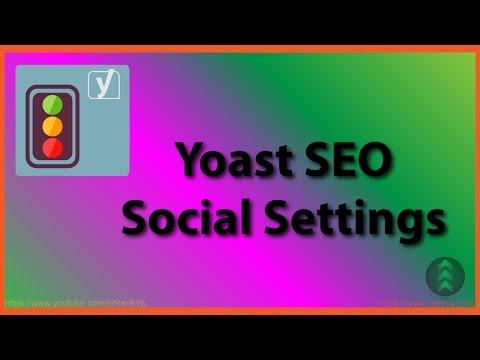 Yoast SEO Plugin Social Settings - 동영상