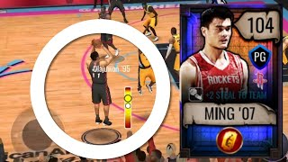 104 GOLDEN TICKET POINT GUARD YAO MING GAMEPLAY IN NBA LIVE MOBILE 20!!!