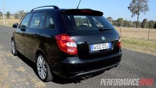 2012 Skoda Fabia RS Wagon DSG start up and 0-100km/h acceleration