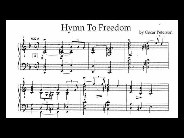 Oscar Peterson Hymn To Freedom Transcription Chords Chordify