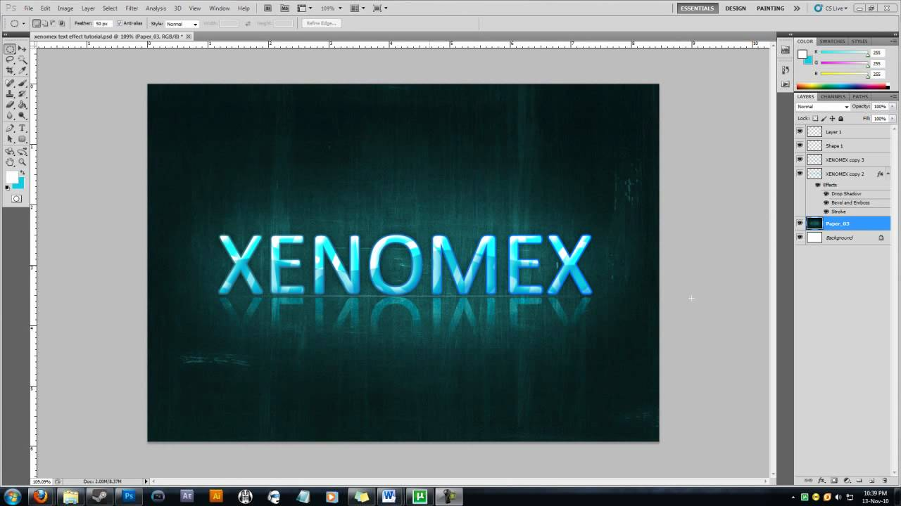 HOW TO] create a cool name design - YouTube