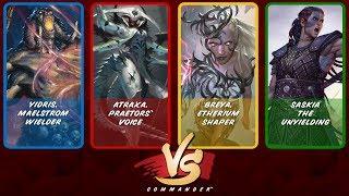 Commander VS S7E7: Yidris vs Atraxa vs Breya vs Saskia