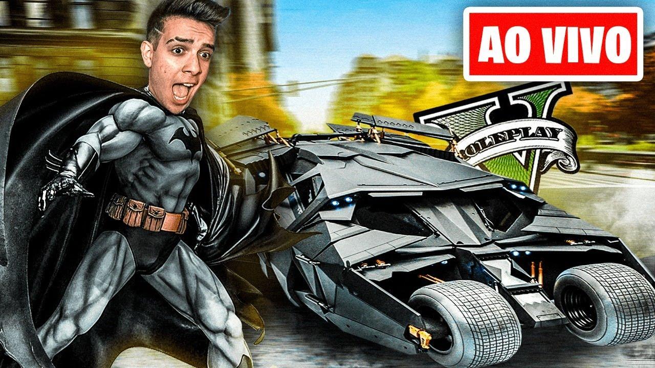 FINGINDO SER O BATMAN no GTA RP AO VIVO