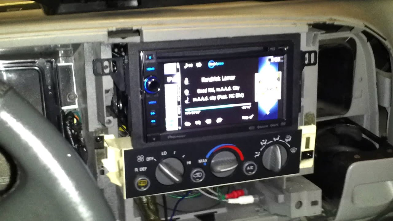Double din installation on a 99 Chevy Tahoe  2 - YouTube