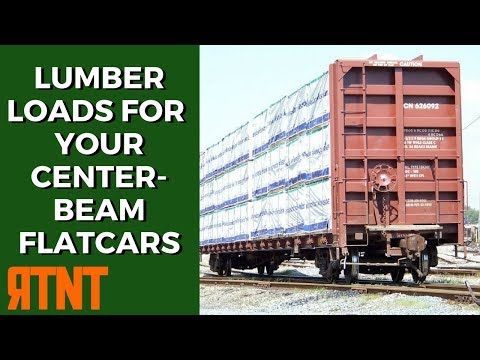 How to Build Model Railroad Freight Car Loads for Centerbeam Flats and Well Cars
