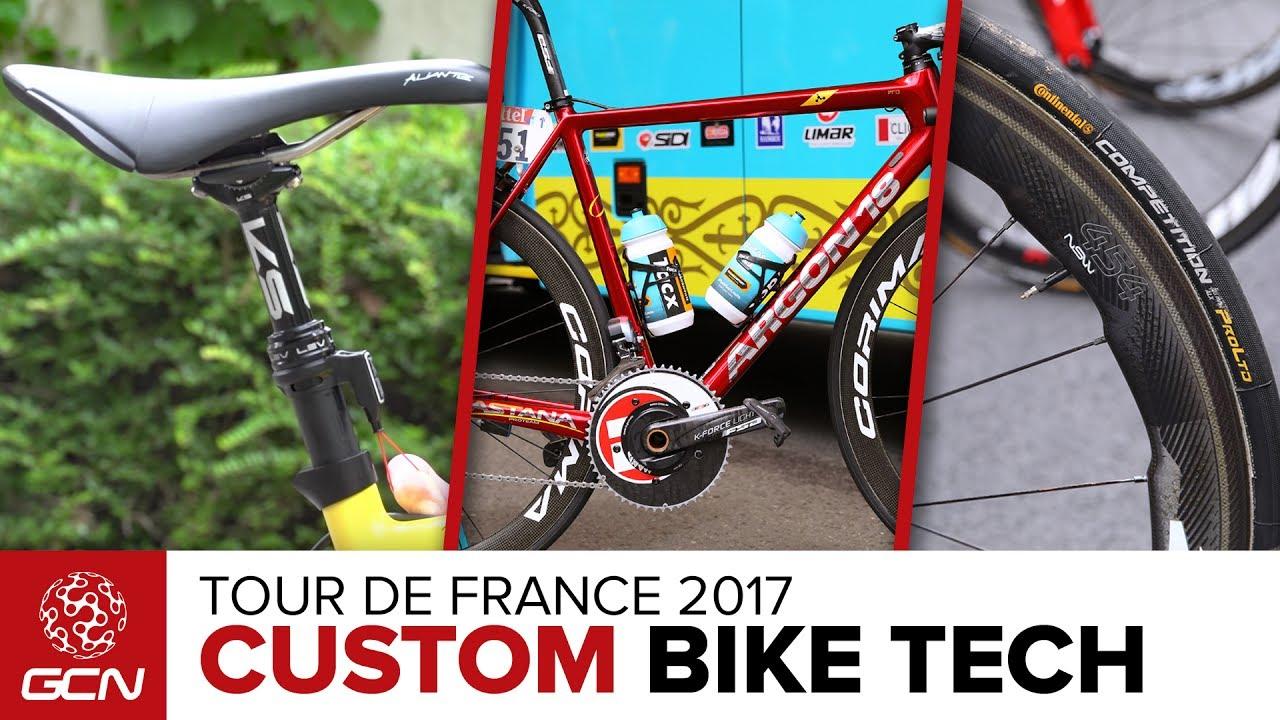 Custom Bike Tech At The Tour de France | Tour de France 2017 - YouTube
