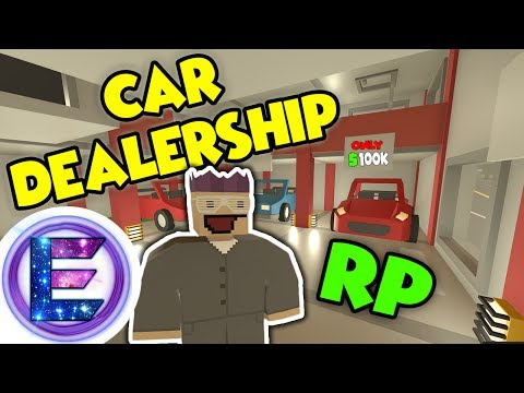 CAR DEALERSHIP RP - Come part exchange your car for a NEW ONE! - Unturned RP ( Car sales man )