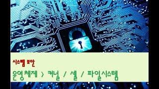 [시스템보안][운영체제] 커널 / 셸 / 파일시스템