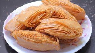 মুখে দিলেই মিসে যাবে মচমুচে রসালো ময়দার খাজা সংরক্ষন পদ্ধতি সহ রেসিপি | Crispy & Juicey Flour Khaza