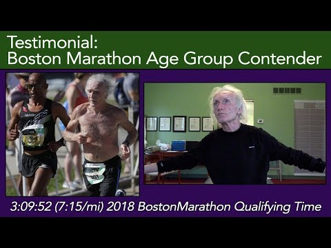 Allan Stieber, 2018 Boston Marathon age group contender in the , does Clinical Somatics 4.2018