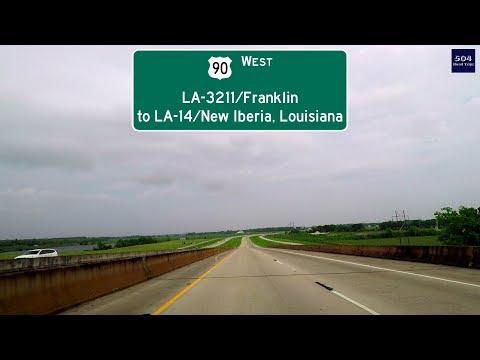 Road Trip #278 - US-90 West - LA-3211/Franklin to LA-14/New Iberia, Louisiana