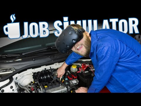 Job Simulator - One Dirty Auto Mechanic! (HTC Vive Job Simul