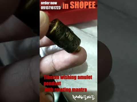 Tibetan wishing Amulet pendant