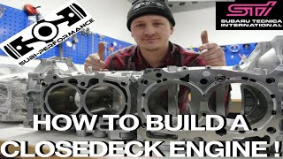 How to build a closed deck Engine l Subi-Performance